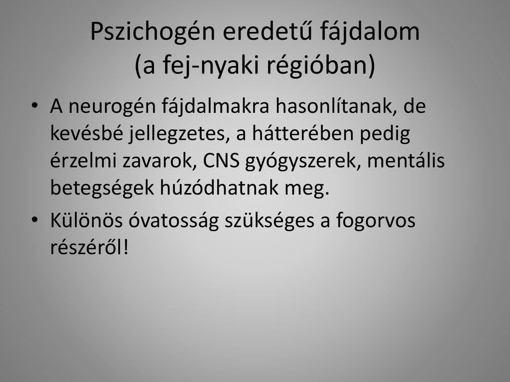 pszichogén hipertónia