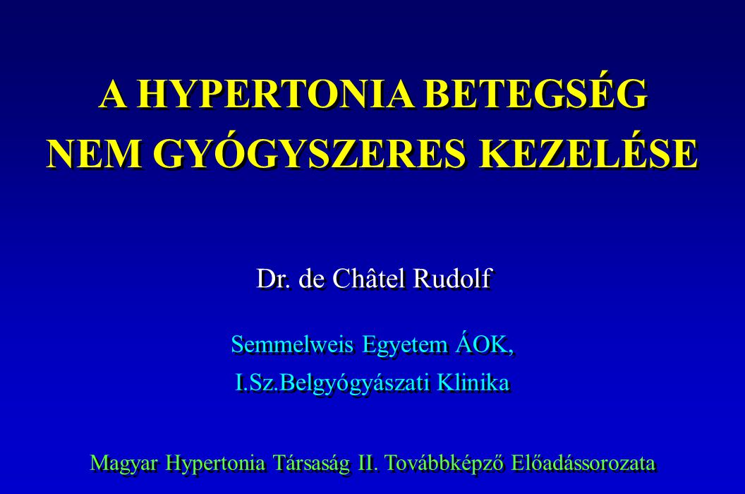 a hipertónia kezelésének perspektívái magas vérnyomás endokrinológia