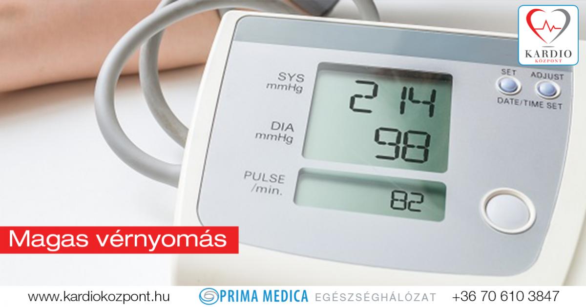 fellépő magas vérnyomás