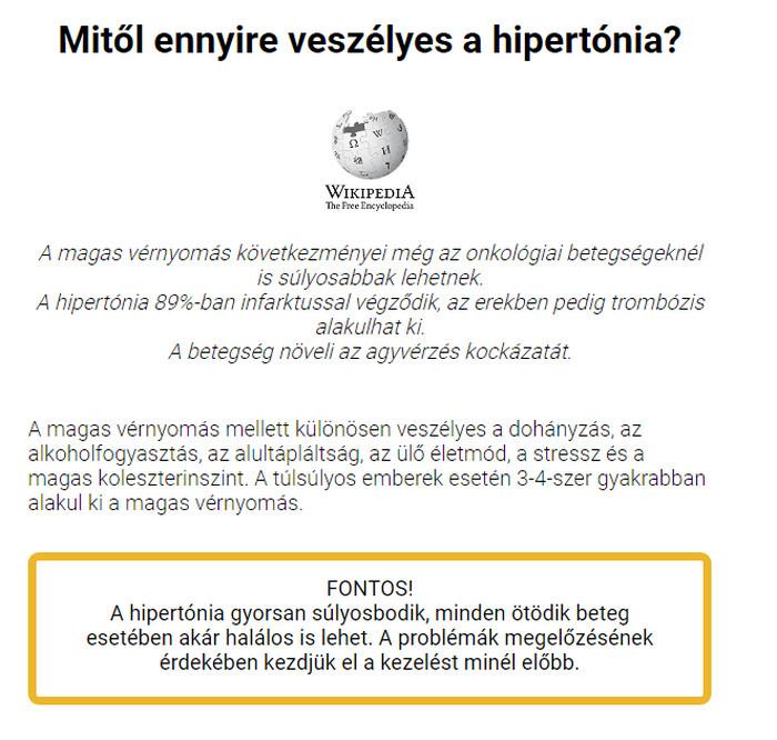 hipertónia vélemények az emberekről